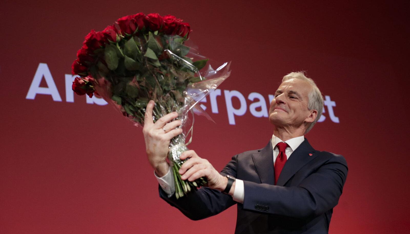 Töölispartei juht Jonas Gahr Støre eile Oslos.