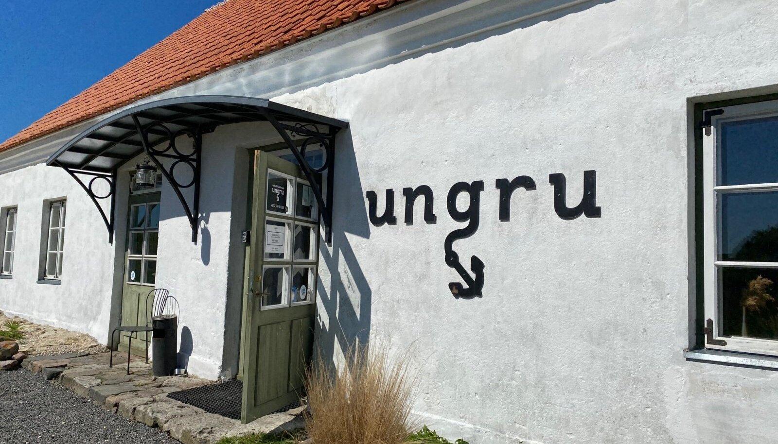 Ungru restorani võib julgelt soovitada: asukoht, õhkkond ja toit teevad sellest võrratu söögikoha.