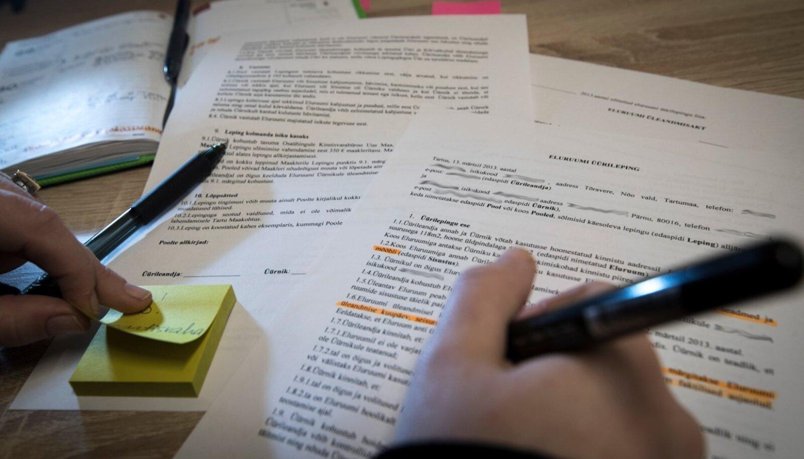 Internetist alla laaditud üürileping ei pruugi olla seadustega kooskõlas.