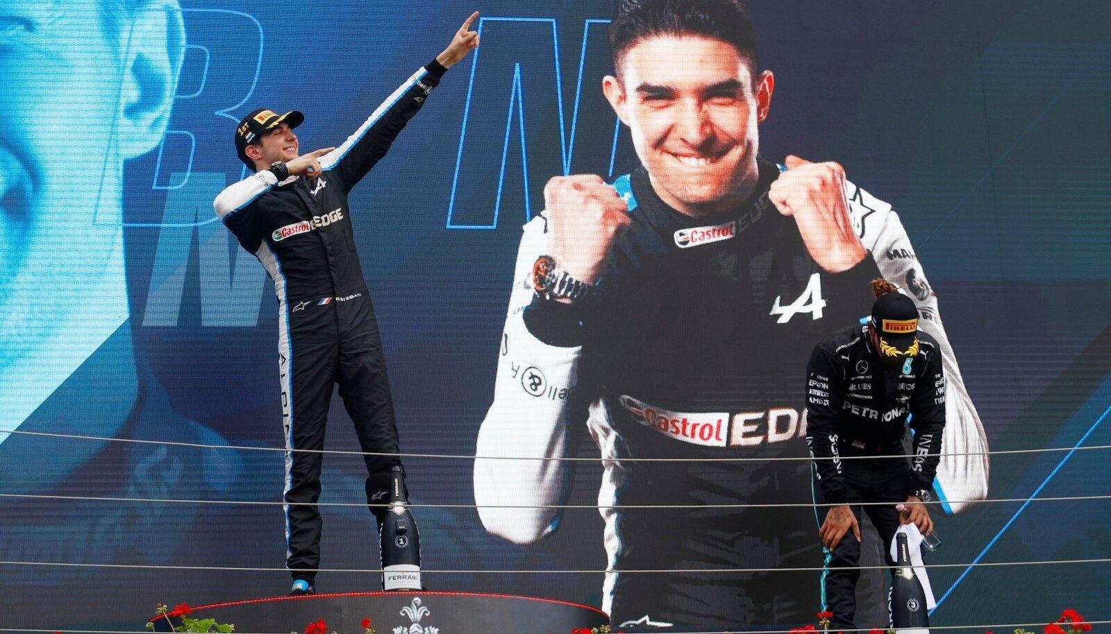 Ungari GP võitja Esteban Ocon