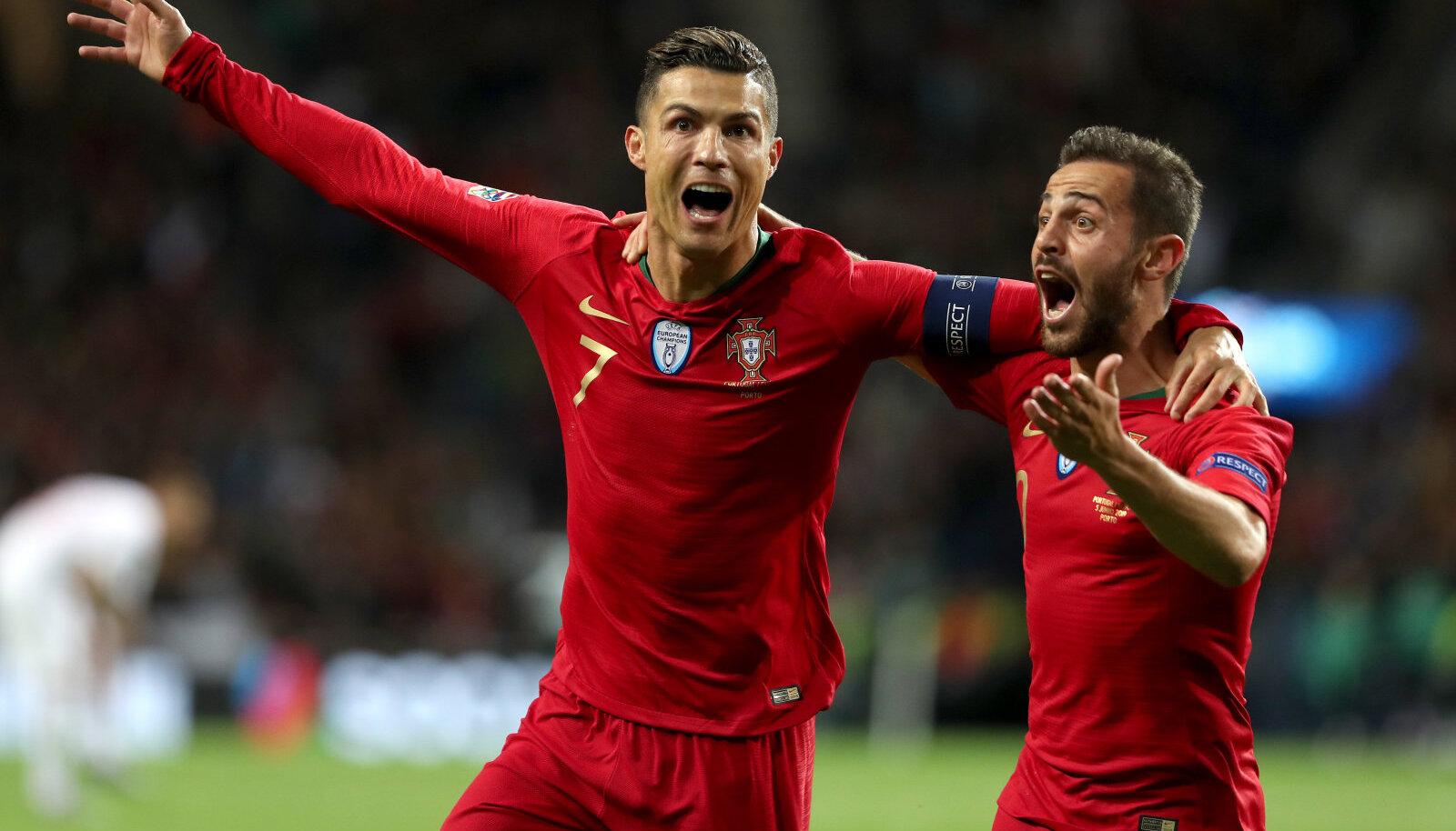 Cristiano Ronaldo ja Bernardo Silva