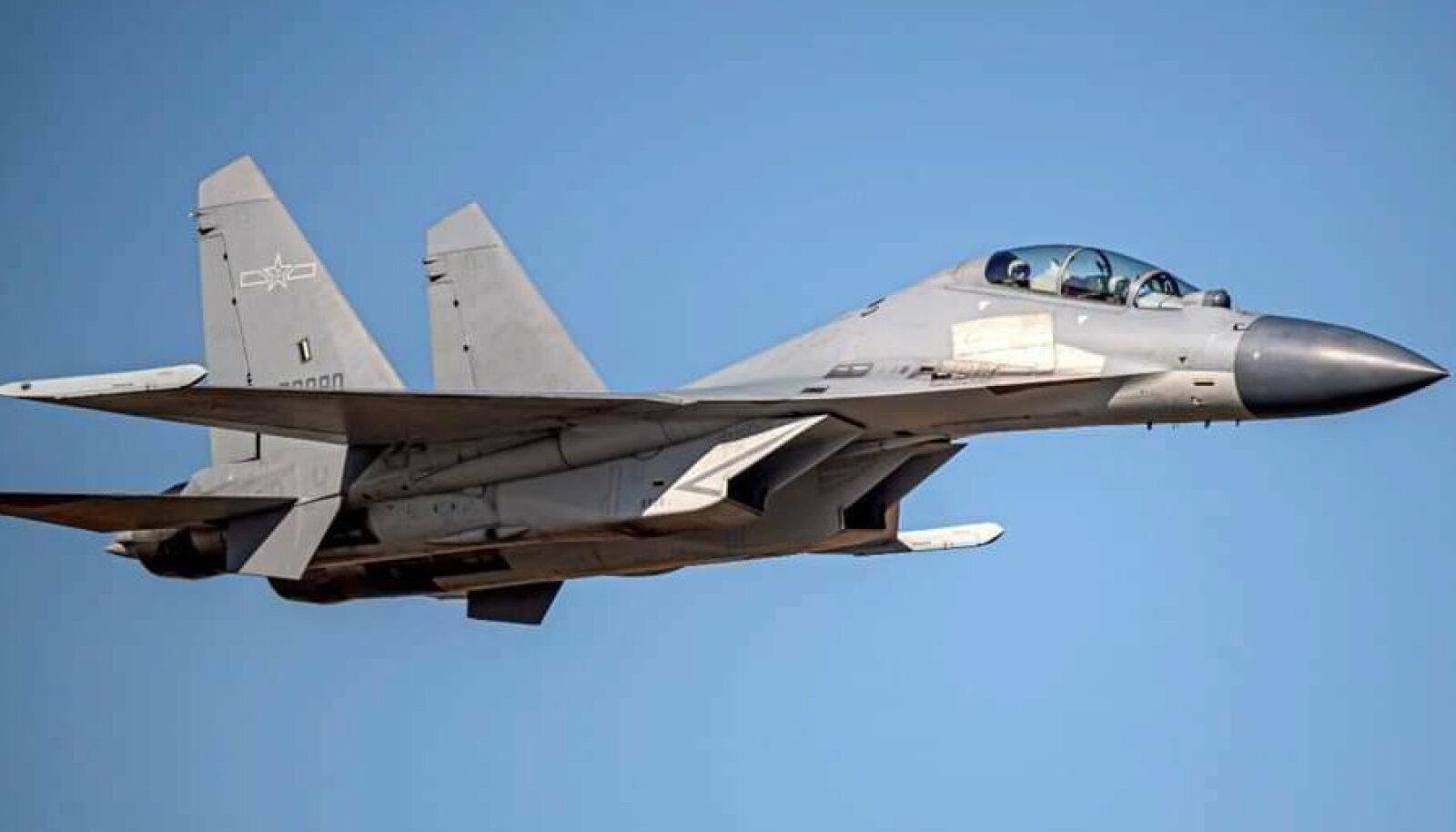 Intsidendis osalesid ka Hiina hävitajad J-16.