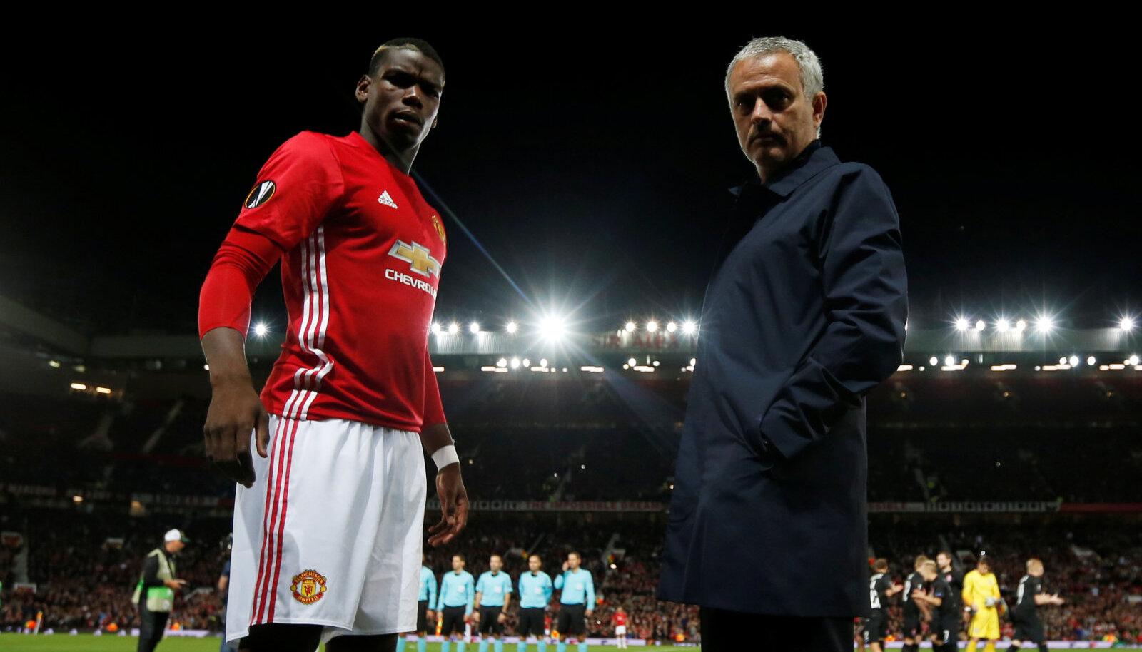 Paul Pogba ja Jose Mourinho 2016. aastal.