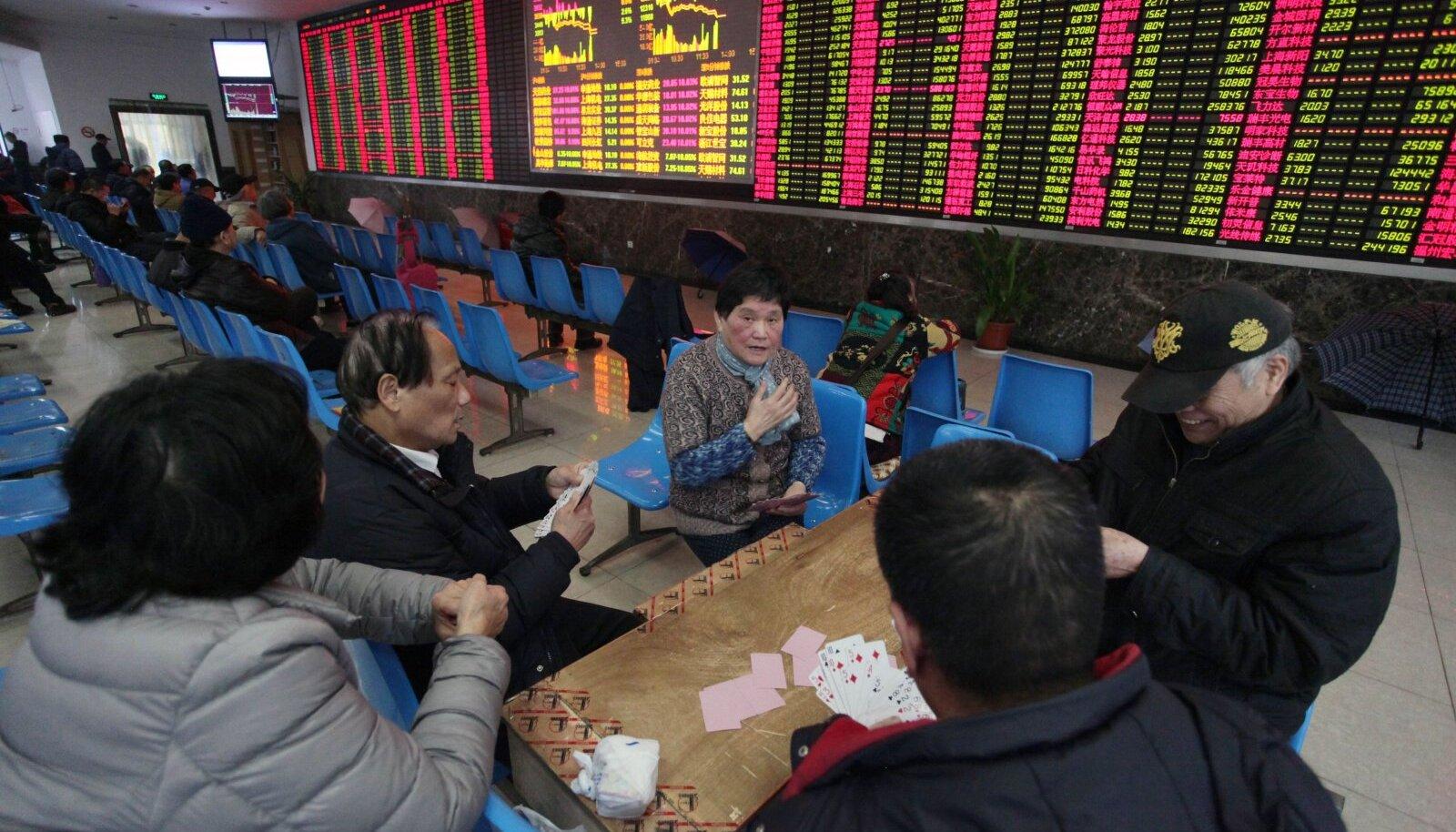 Hiinas on investeerimine osa elust. Piltlikult öeldes leitakse maaklerfirmas olles ka muud tegevust. Millal tekivad Eestisse sellsed maaklerfirmad/pangasaalid?
