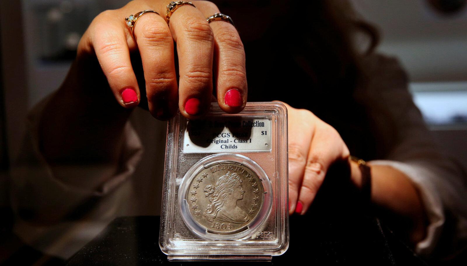 Haruldane USA hõbemünt