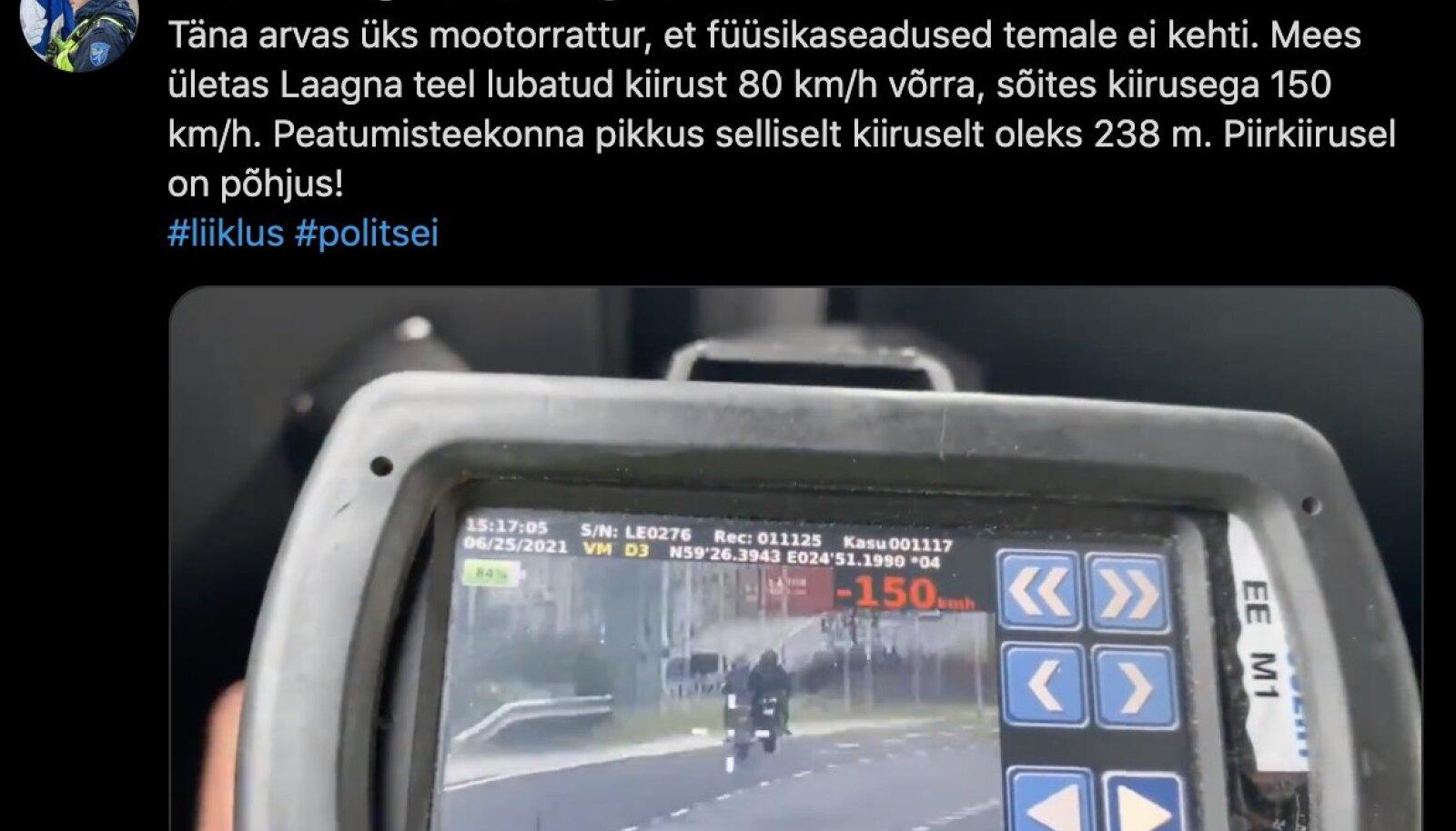 Videot jagas Twitteris liikluspolitseinik Vladimir Kägonen.