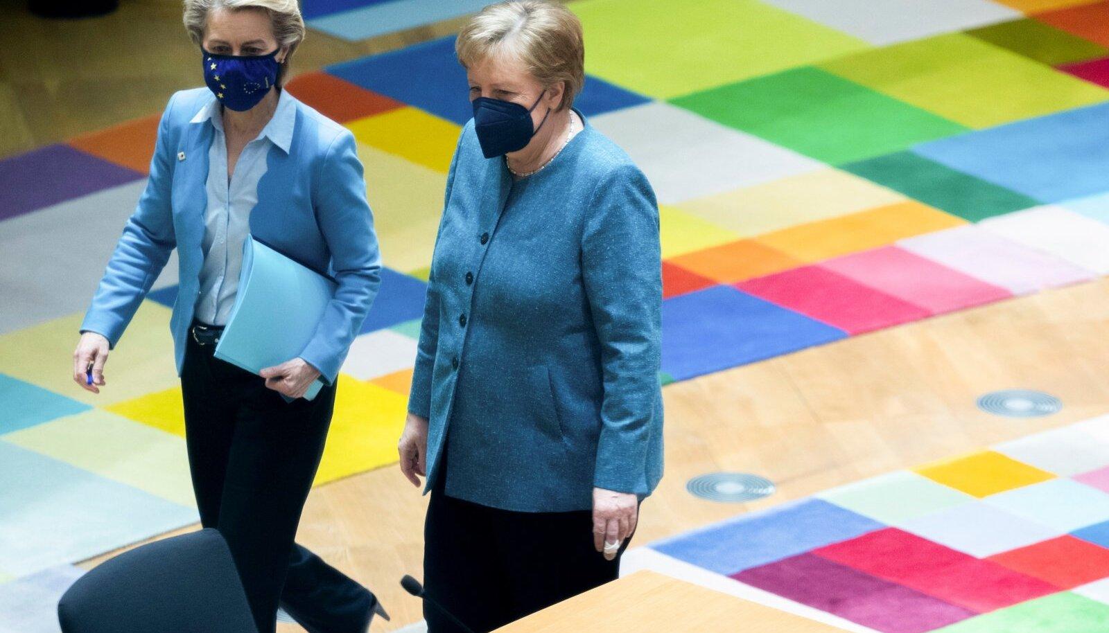 Euroopa Komisjoni president Ursula von der Leyen ja Saksa liidukantsler Angela Merkel arutasid esmaspäeval Brüsselis Valgevene küsimust.