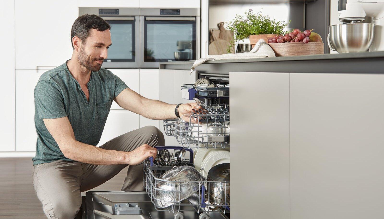 Nõudepesumasina suuruse ja tüübi määrab pereliikmete arv ning köögi suurus.
