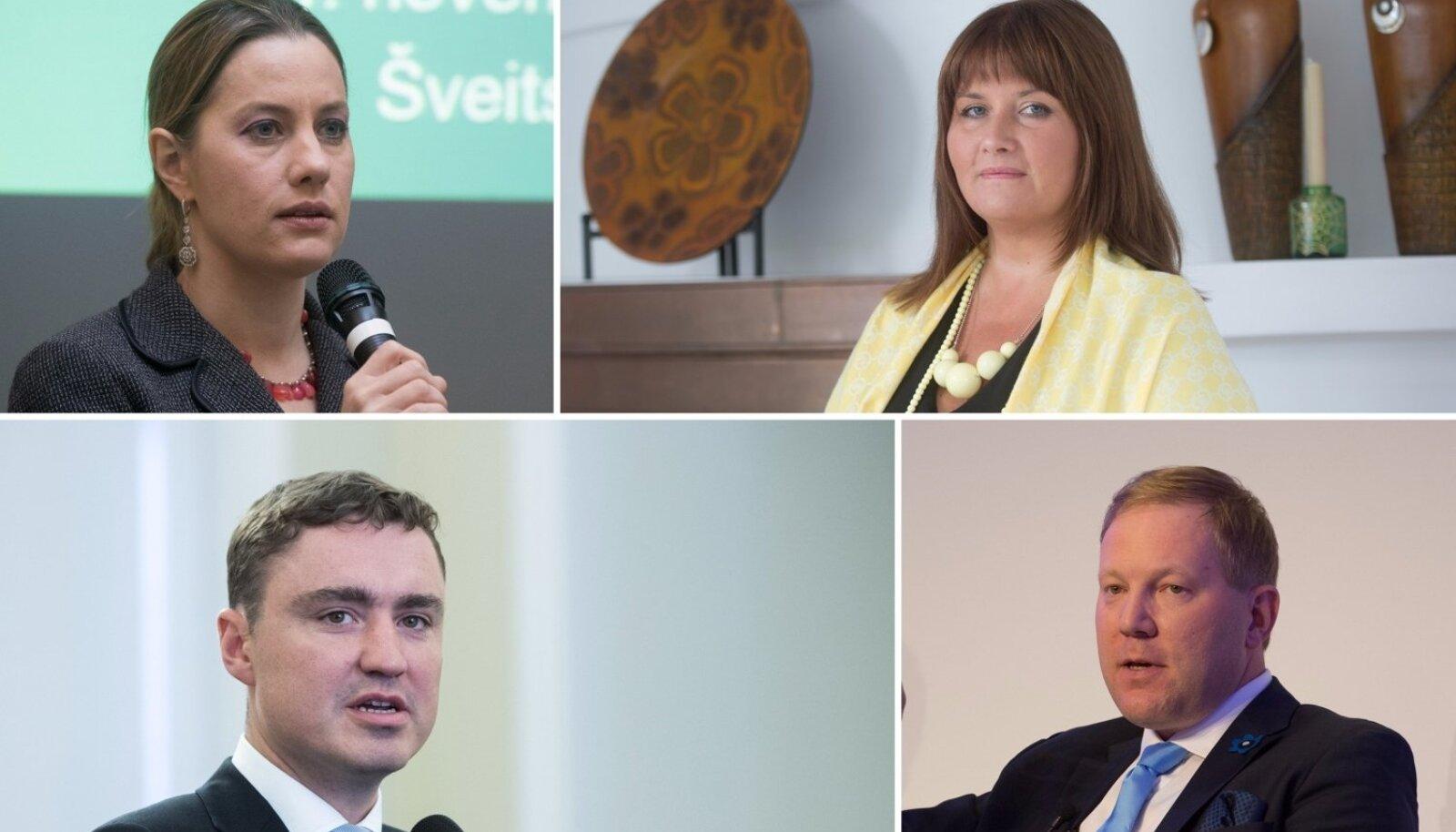 Riigikogu liikmed Oudekki Loone, Liisa Oviir, Taavi Rõivas ja Marko Mihkelson