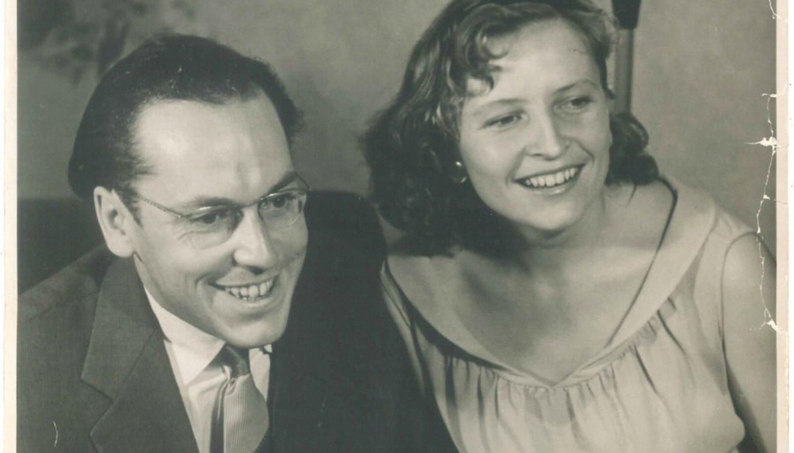 Lennart Meri ja Regina Meri noortena.