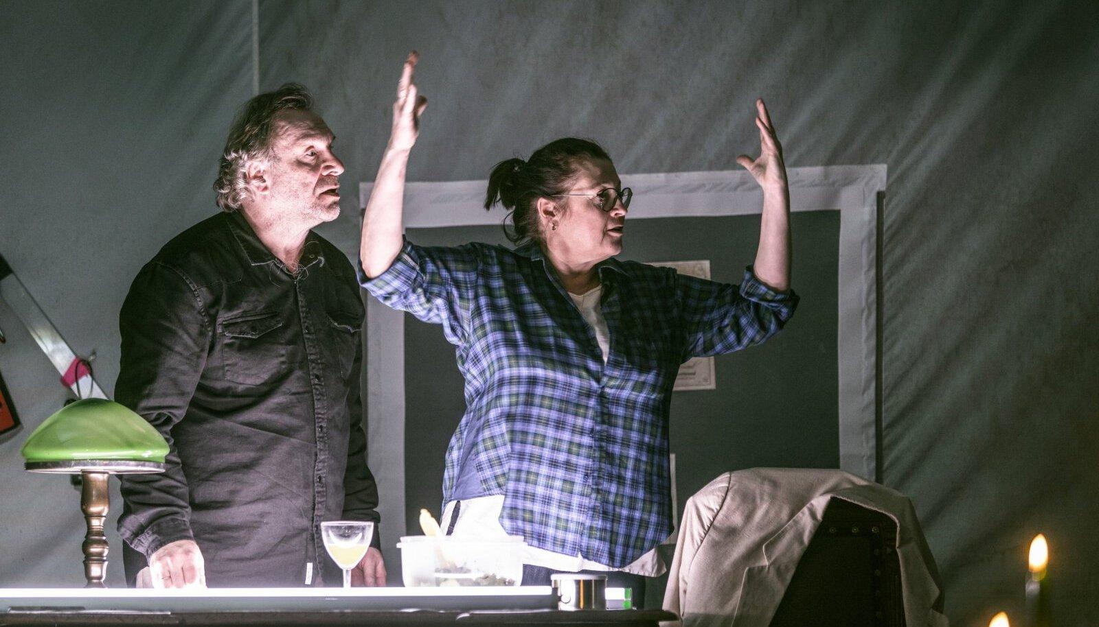 Tuumafüüsikutest abielupaar Robin (Peeter Tammearu) ja Hazel (Anne Reemann). Näidendist ja lavastusest selgub nii mõndagi sellist, millest tavaolukorras ei räägita.