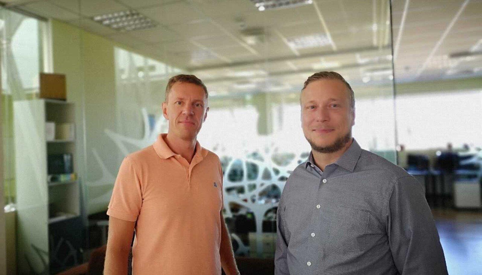 Uptime´i tegevjuht Eero Tohver ja West Soft Development A/S-i tegevjuht Ronni Madsen
