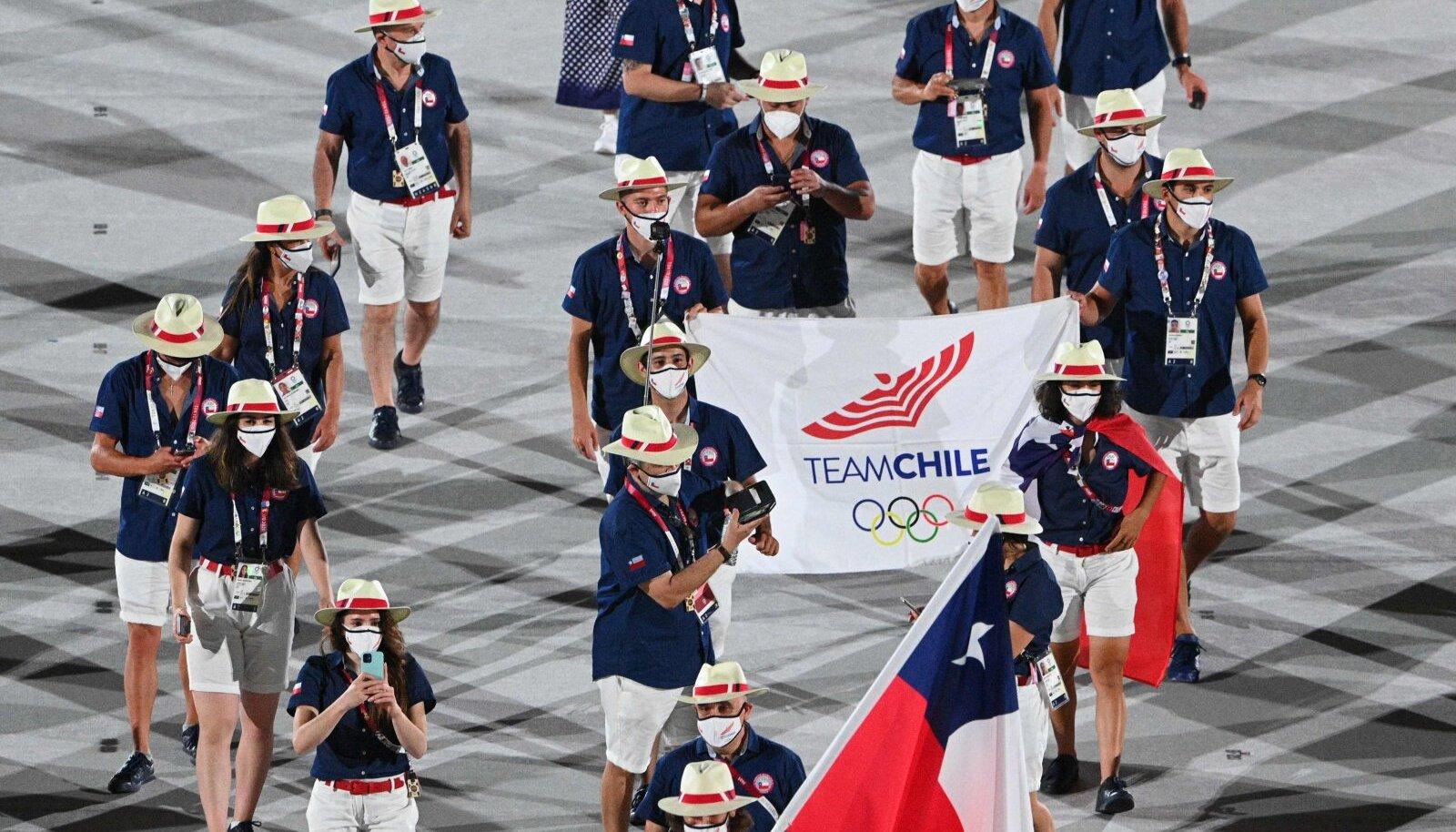 Tšiili olümpiakoondis Tokyo avatseremoonial
