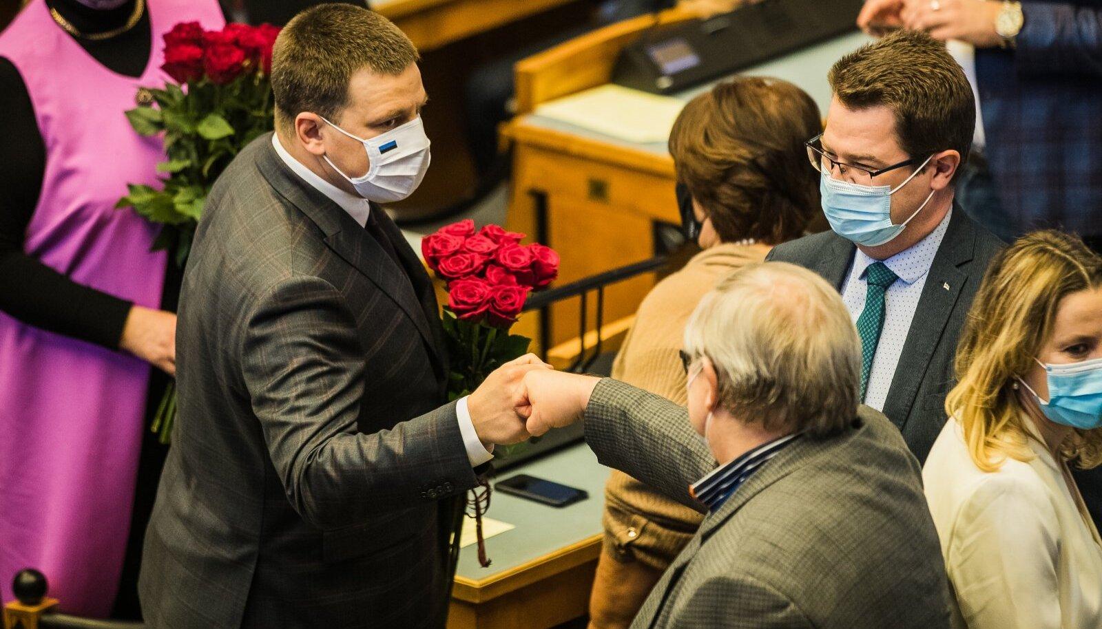 Jüri Ratas riigikogu esimeseks saamise järel.