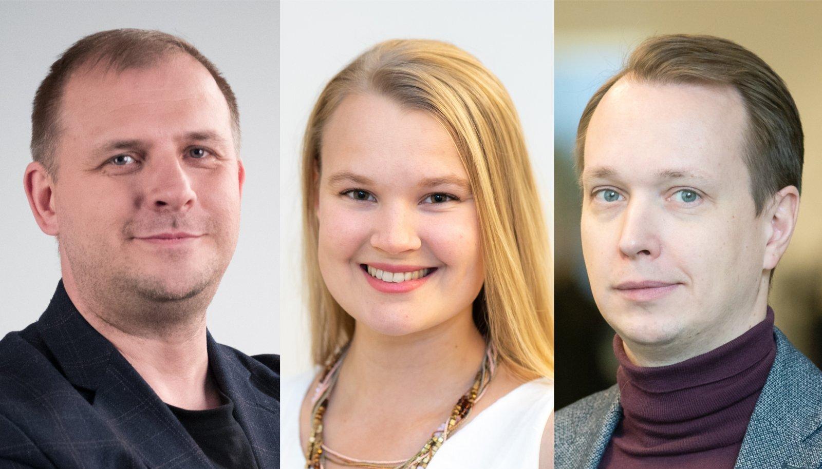 EKSPRESSI TEGIJAD 2020: kujundaja Tarmo Rajamets ning ajakirjanikud Greete Lehepuu ja Toivo Tänavsuu.