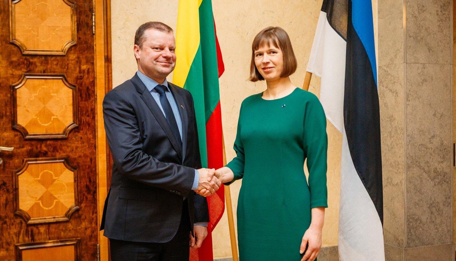 President Kersti Kaljulaid kohtus Leedu peaministri Saulius Skvernelisega