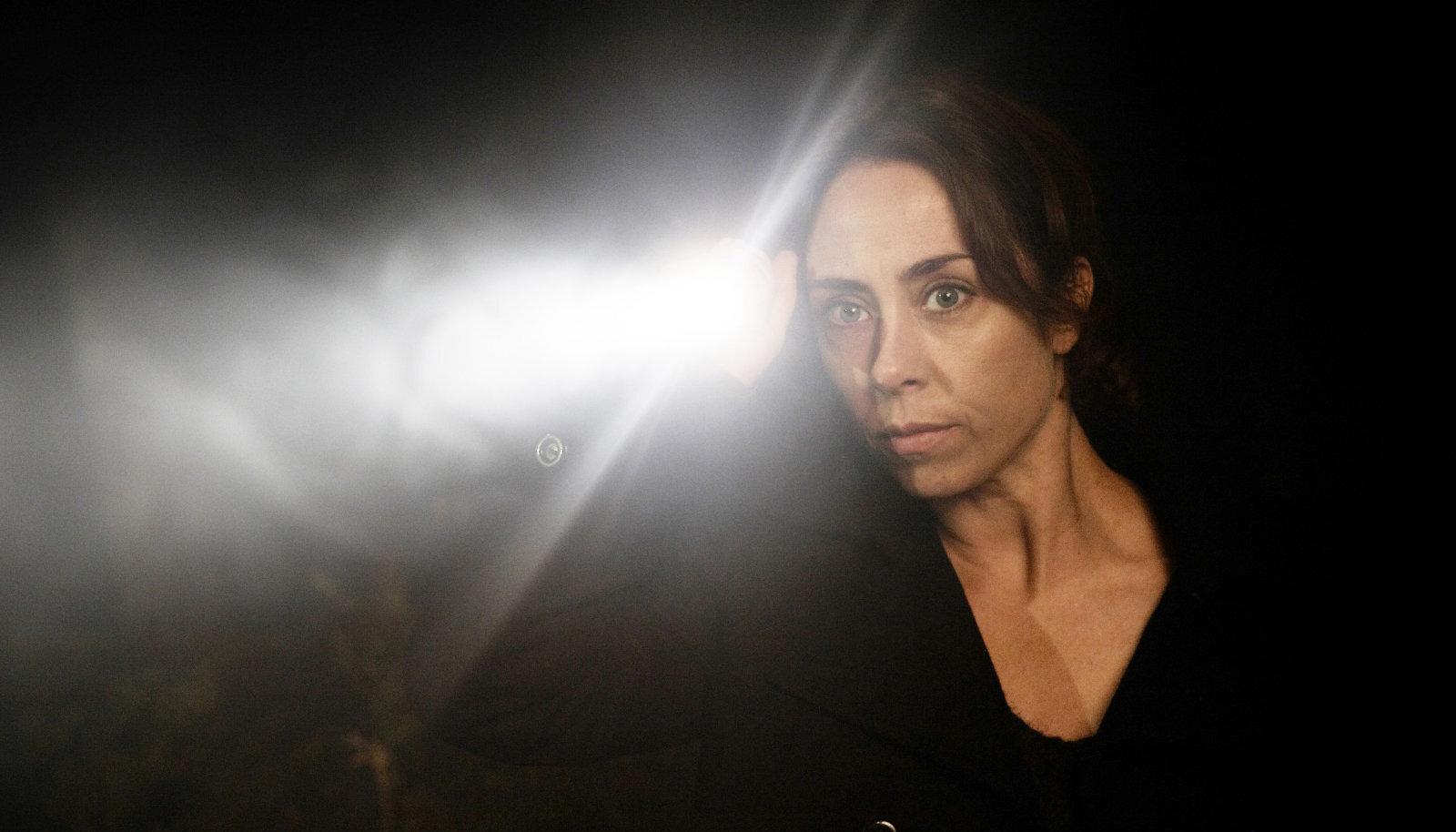 """Taani näitlejanna Sofie Gråbøl detektiiv Sarah Lund'i rollis seriaalis """"Kuritegu"""""""