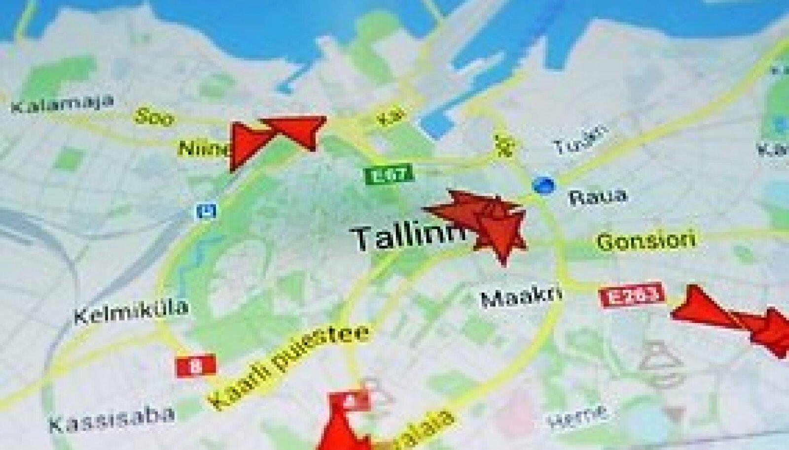 Угадайте, что за маршруты показаны на карте?