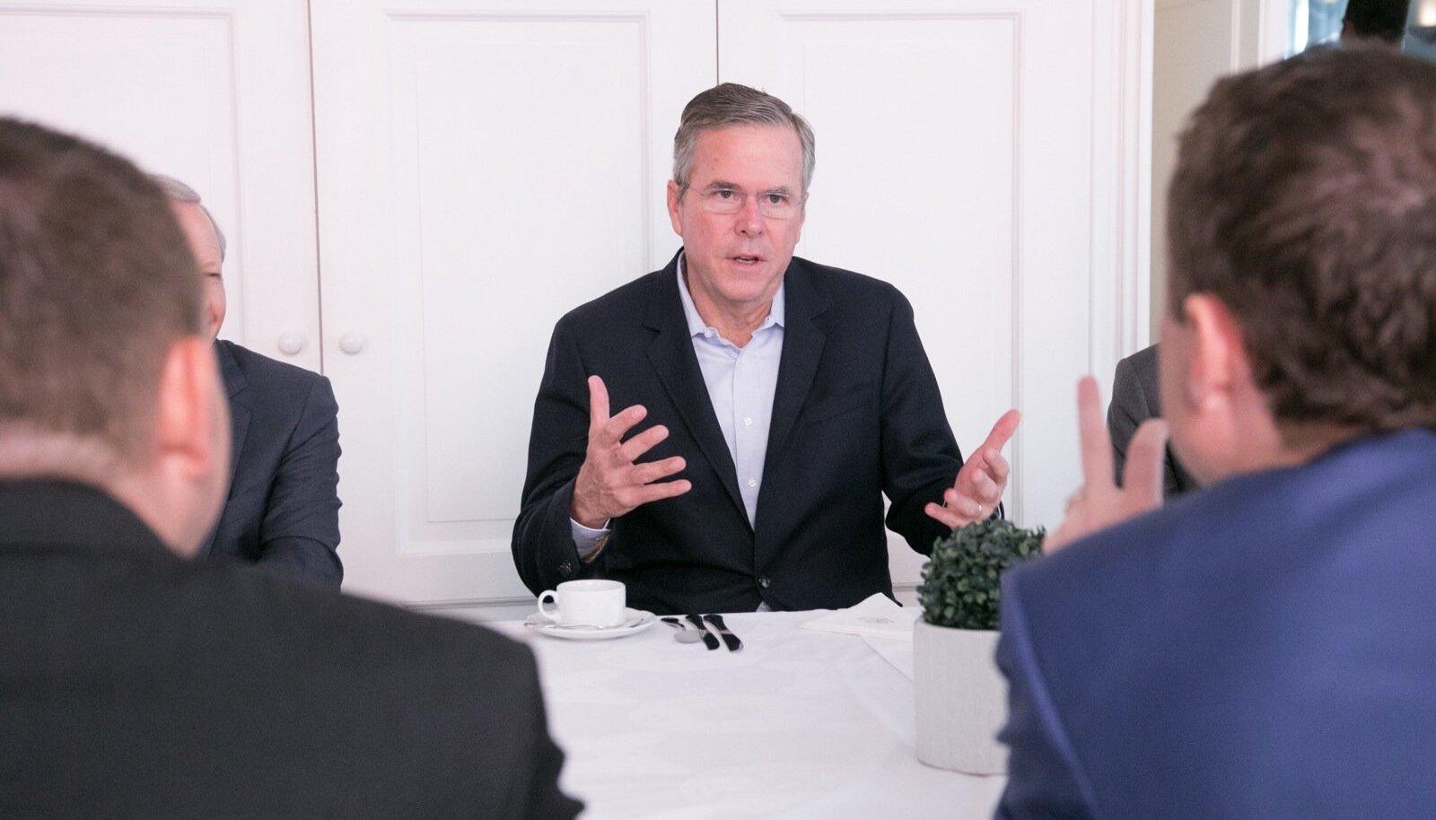 Jeb Bush ja Taavi Rõivas 2015