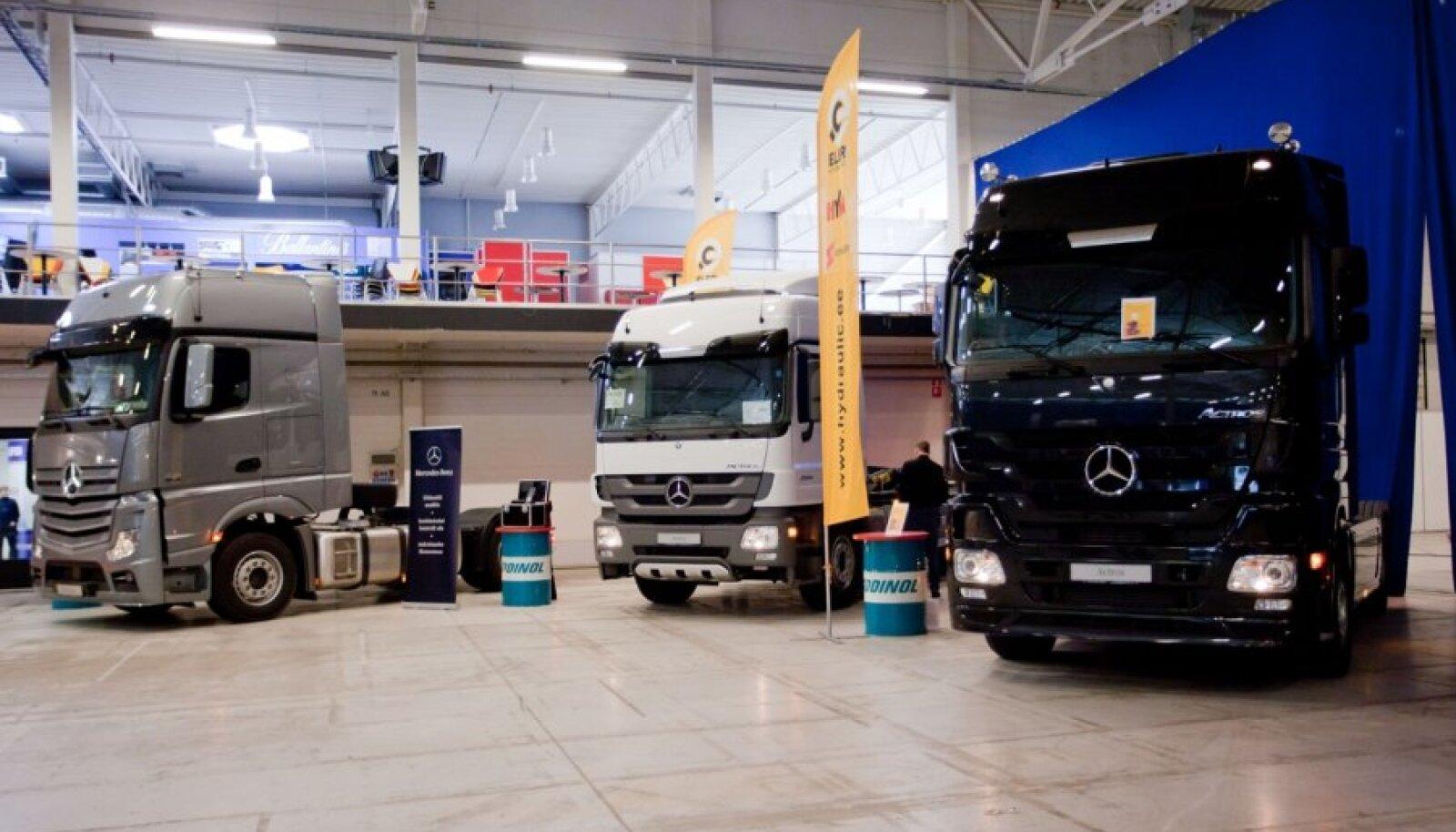 Silberauto Mercedes-Benz veokid Eesti Näituste messikeskuses