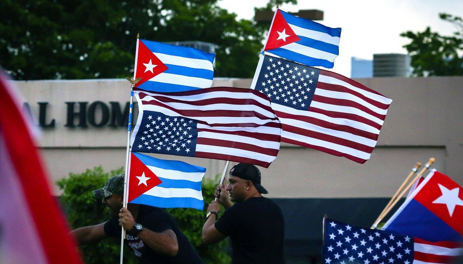 Kuuba võimude vastu toimus eile protest ka USA-s Miamis.