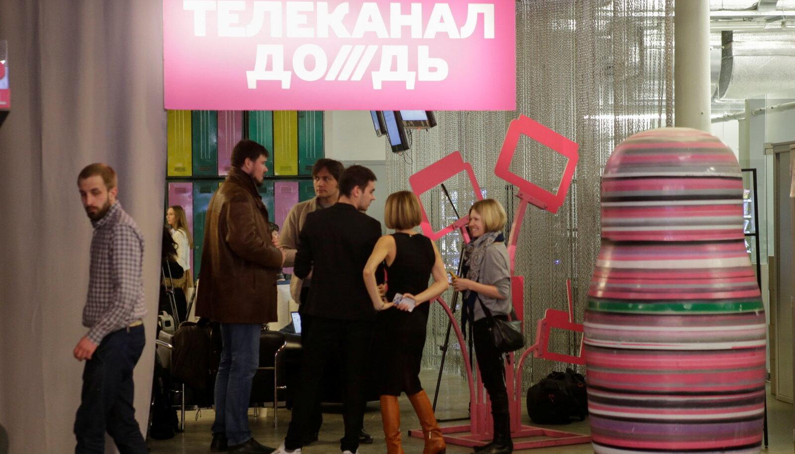 Telekanali Dožd toimetus Moskvas.
