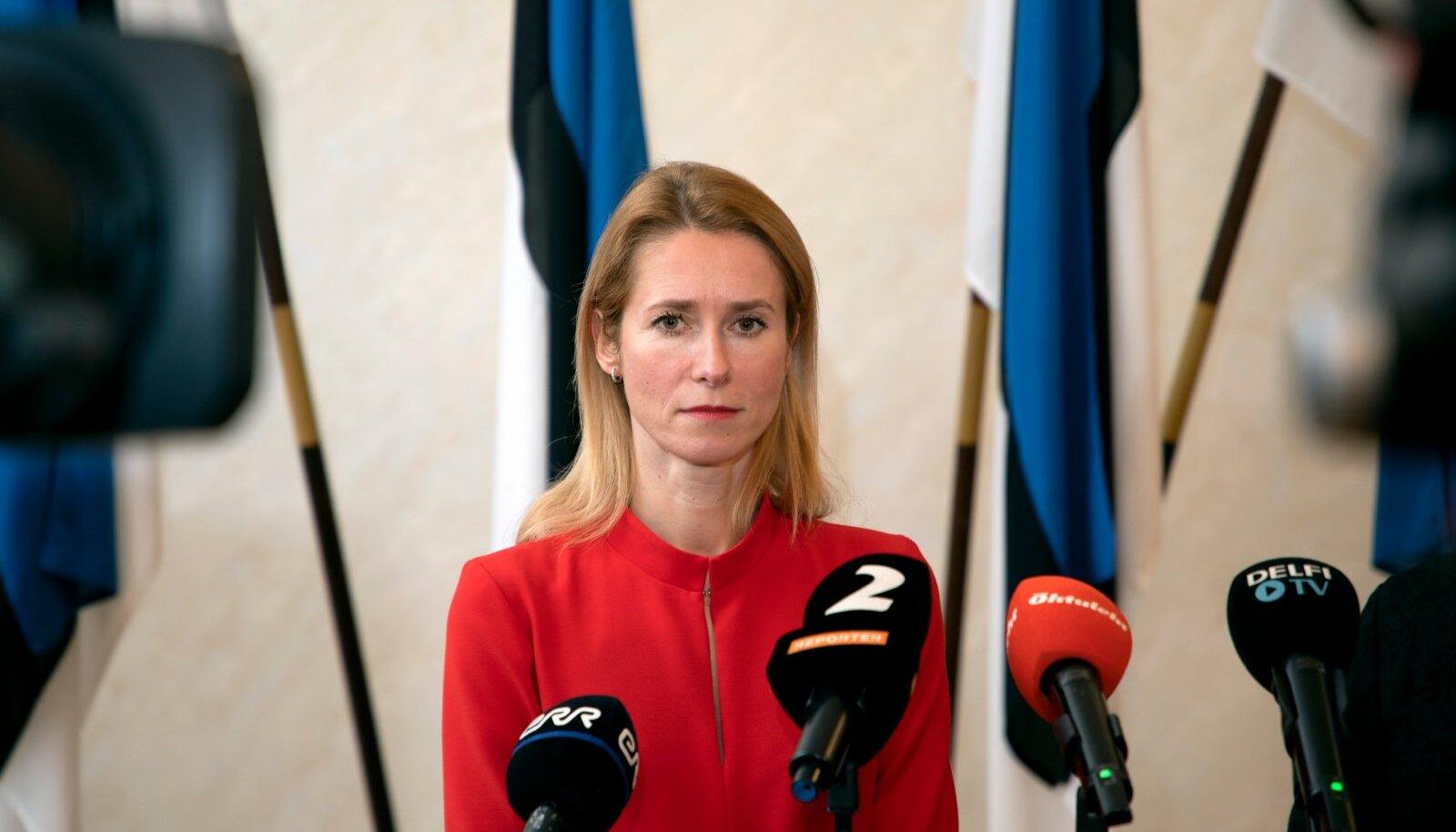 Reformierakonna ja Keskerakonna koroona aja kriisivalitsuse loomine, Kaja Kallas