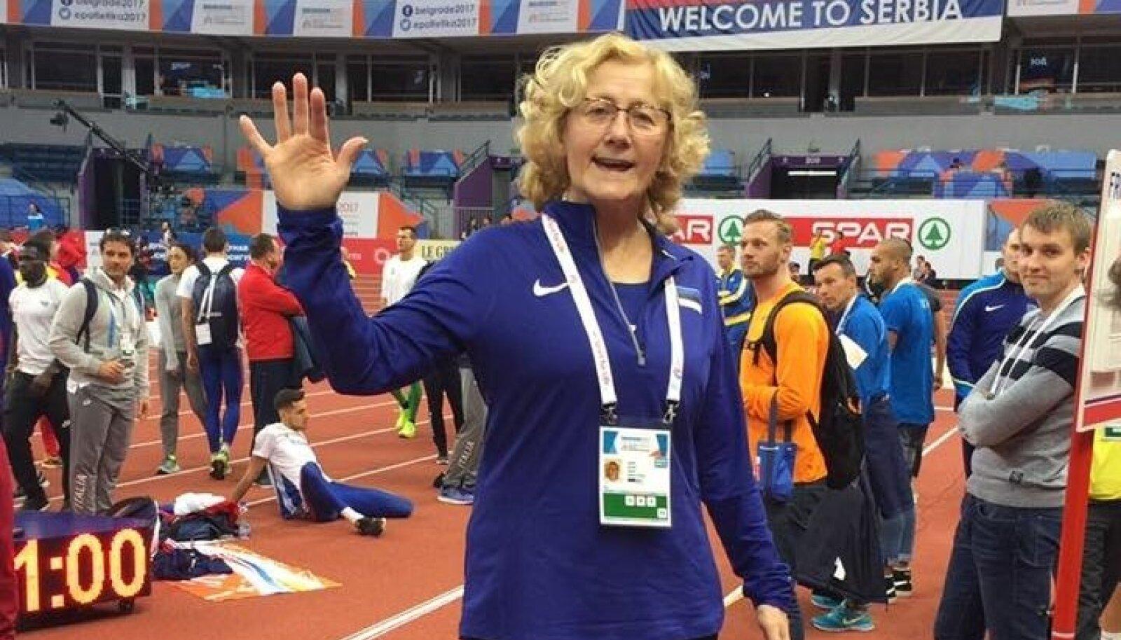 Mullusel sise-EM-il Belgradis oli Katrin Klaup Kristjan Rosenbergi treenerina Eesti koondise särgis. Birminghamis kuulus ta Rootsi esindusse.