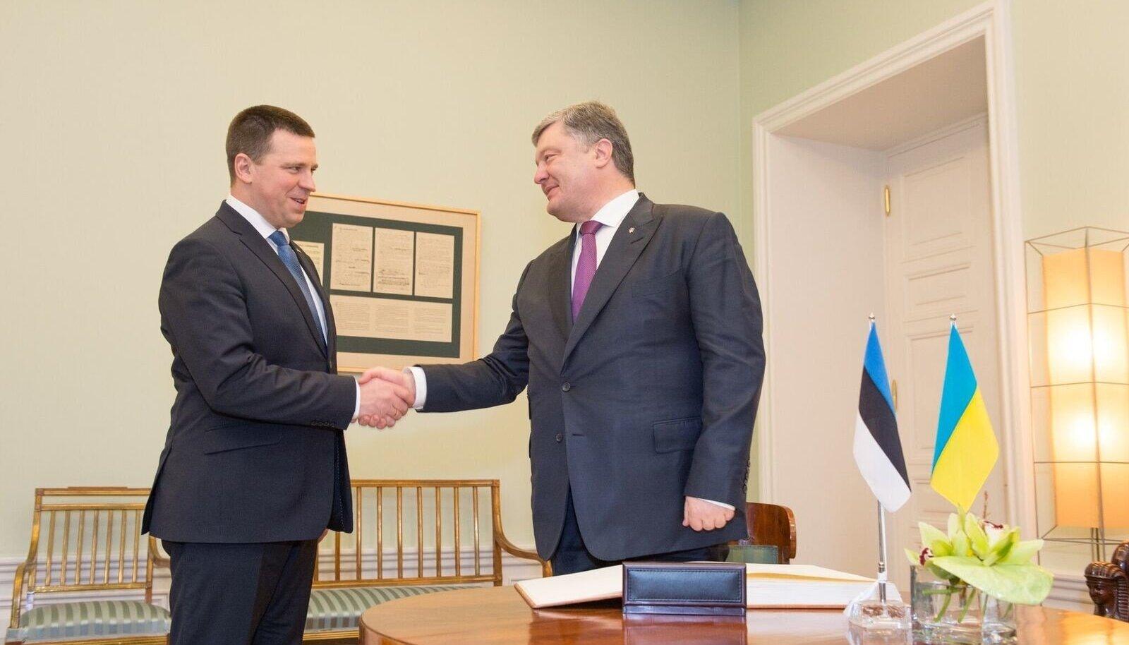 Jüri Ratas ja Ukraina president Petro Porošenko