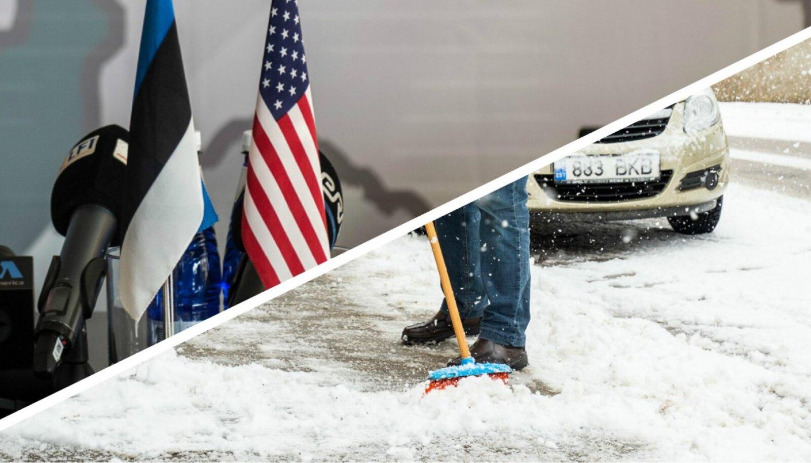 Eesti ja USA, lumi