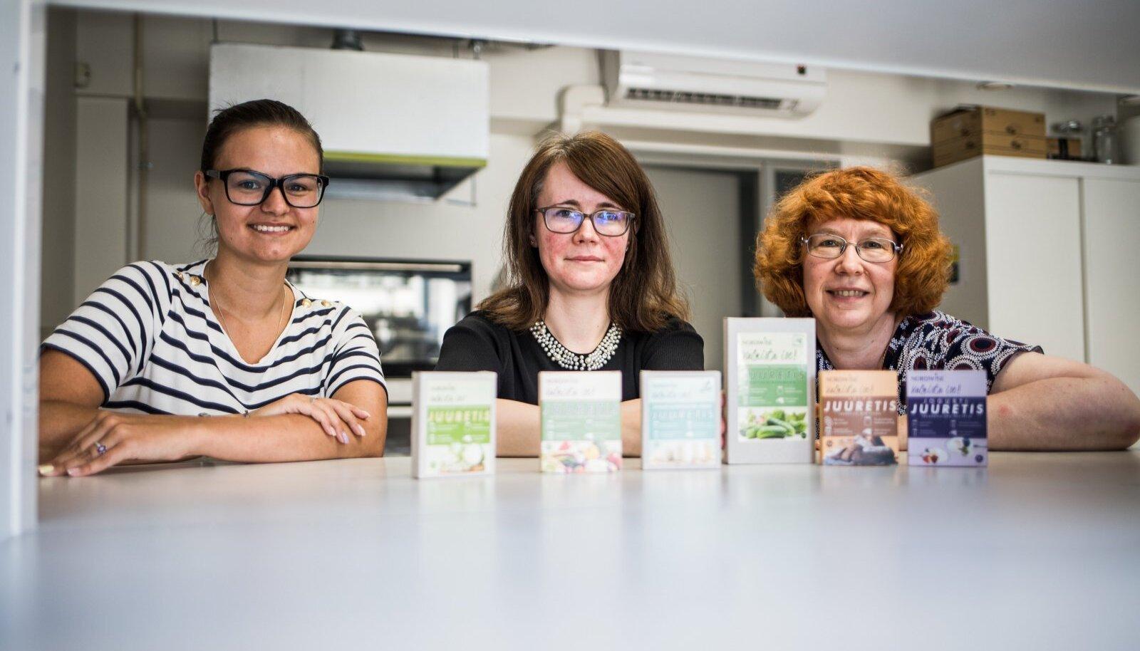 Alice Valge, Liis Lutter ja Epp Songisepp teadusasutusest BioCC kinnitavad, et nende juuretistega õnnestub hapendamine suurepäraselt.