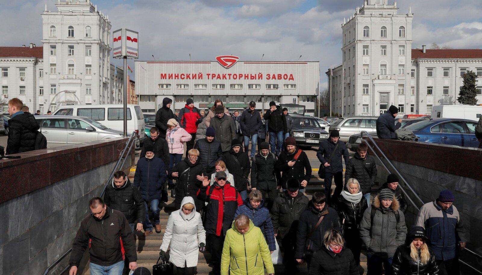 Minski traktoritehase metroopeatus kolmapäeva õhtupoolikul