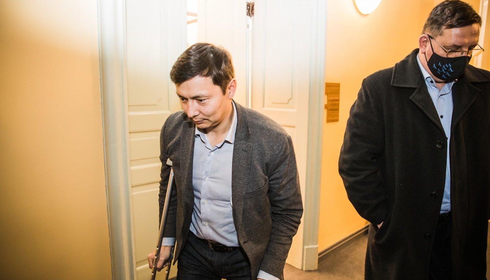 Keskerakonna toetus on kolinal kukkunud. Fotol Mihhail Kõlvart ja Taavi Aas.