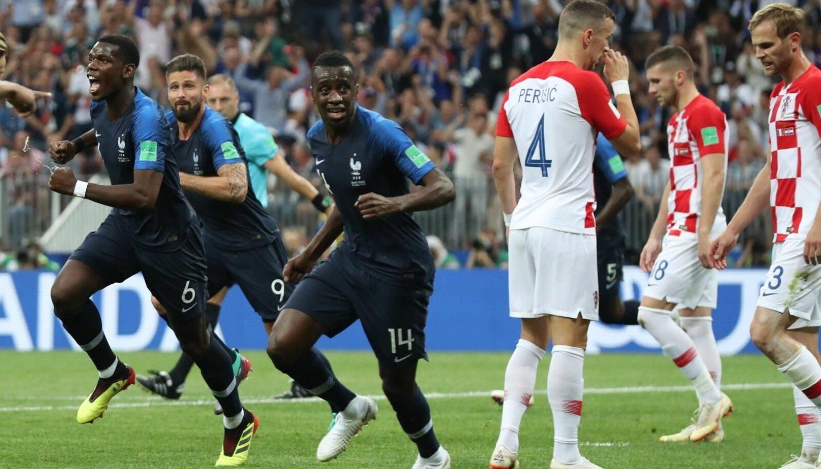 Prantsusmaa võitis MM-tiitli, Horvaatia pidi leppima hõbemedalitega.