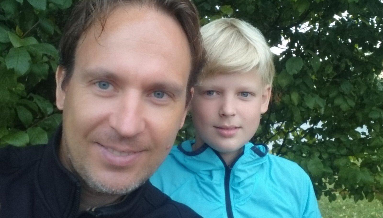 Tänavu suvel koos 10-aastase poja Aksliga, kes käib treenerist vanaema Külli juures suusatreeningutel