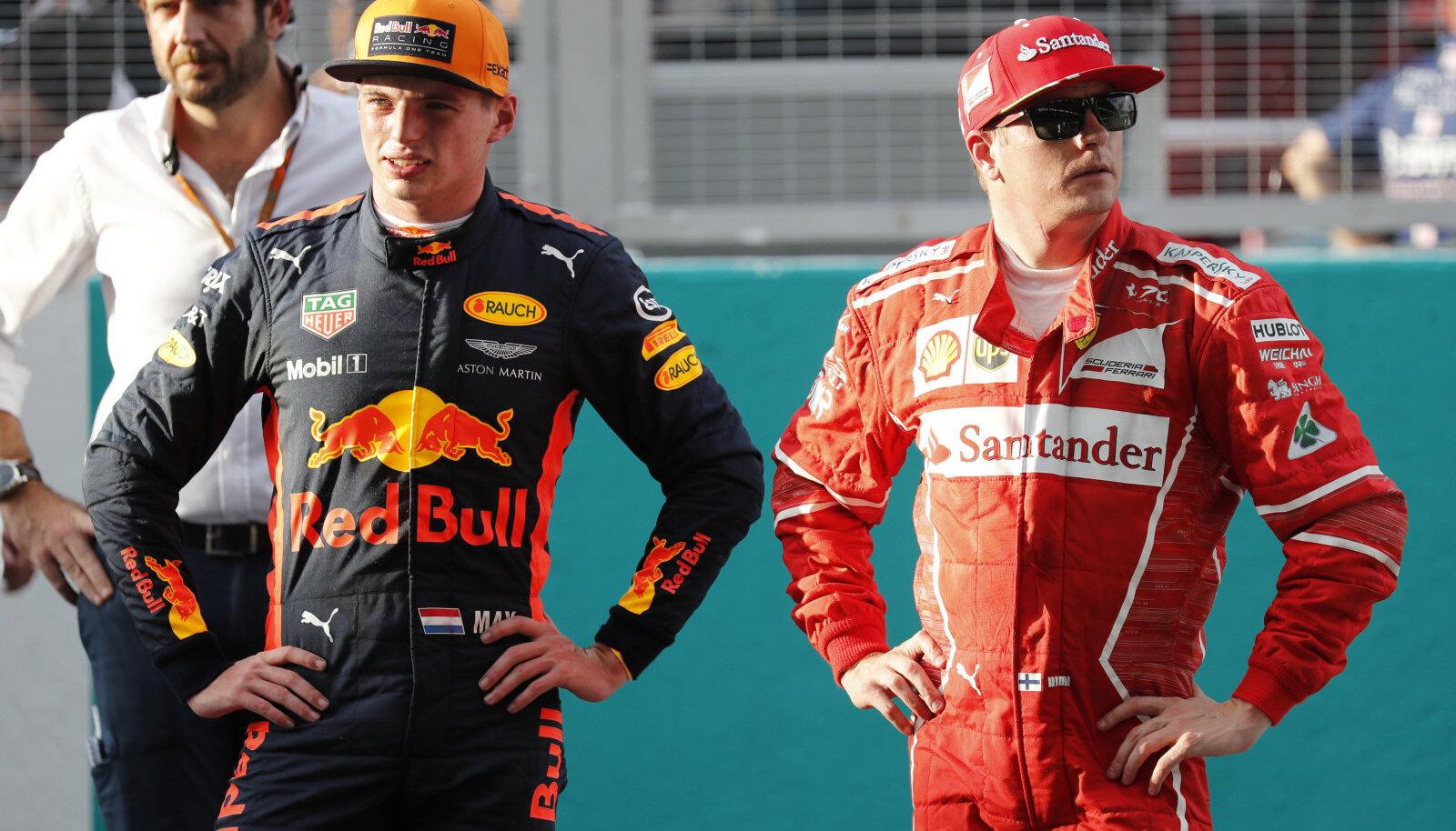 Max Verstappen ja Kimi Räikkönen tunamullusel hooajal.