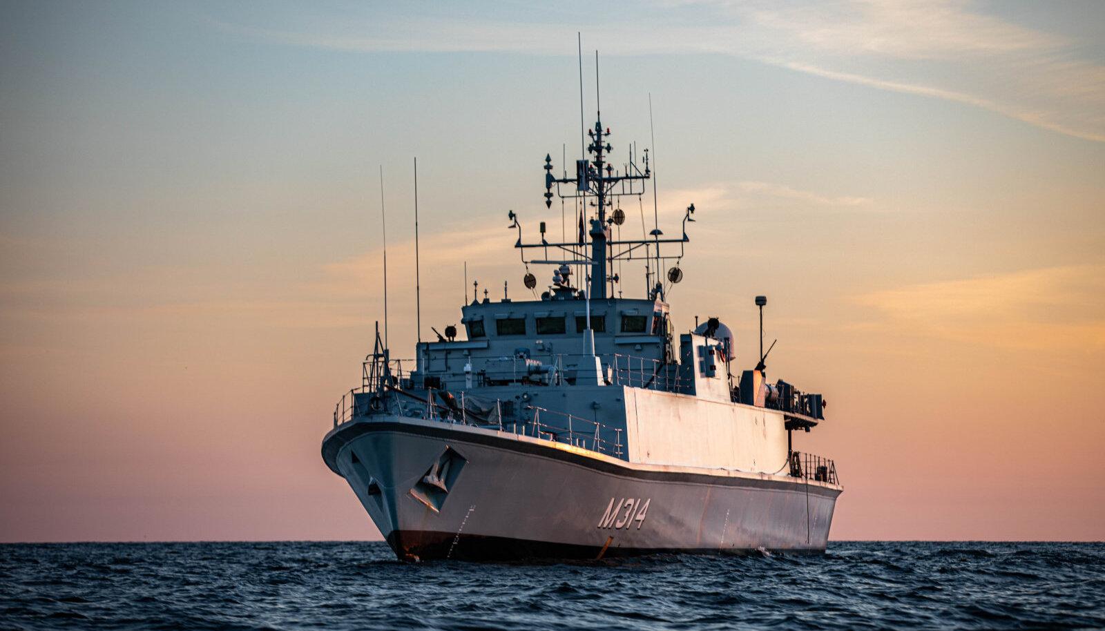 EML Sakala õppusel (Foto: Maria Tõkke / merevägi, ajakiri Sõdur)