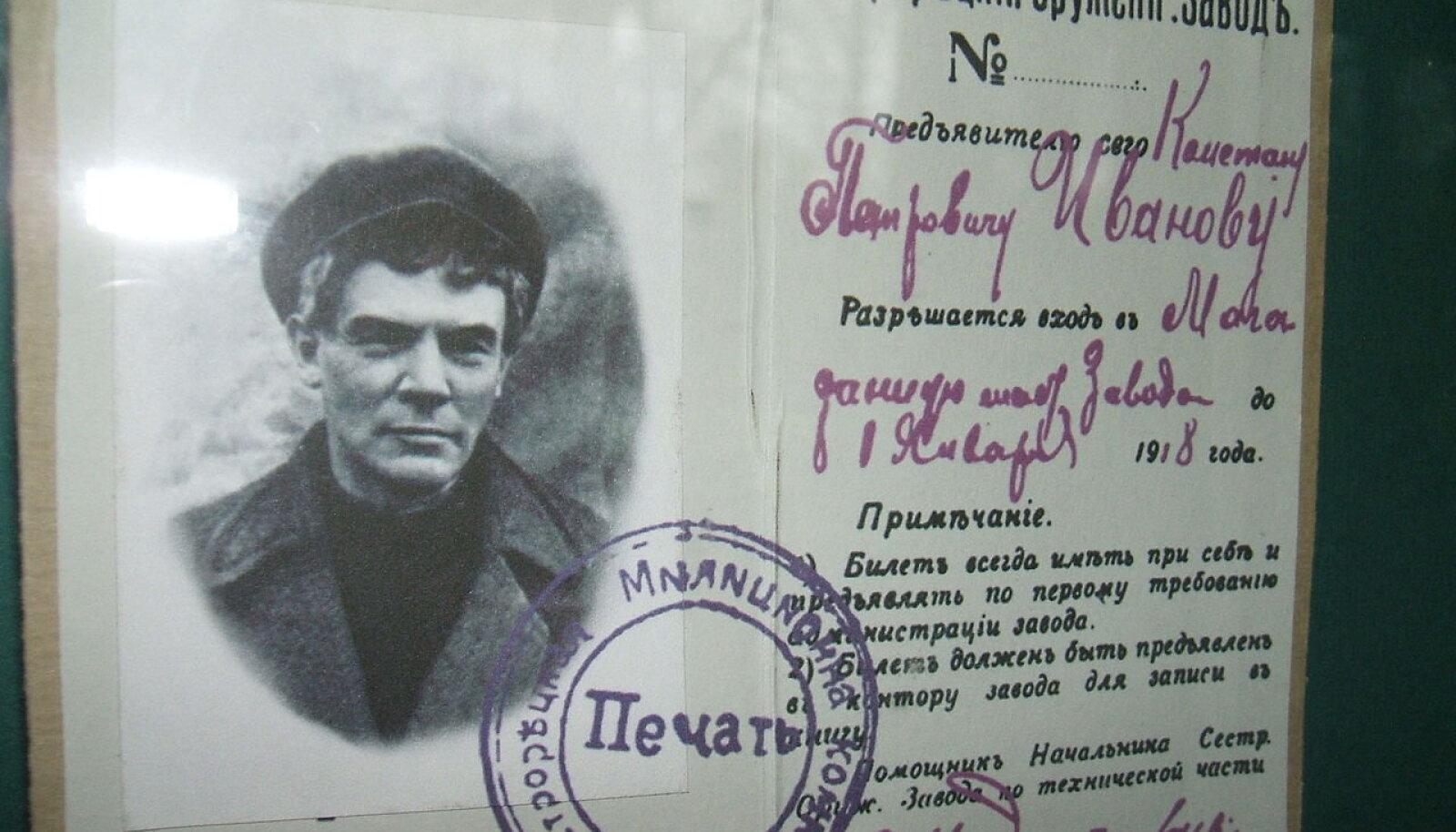 Valedokument, millega Lenin ringi reisis.