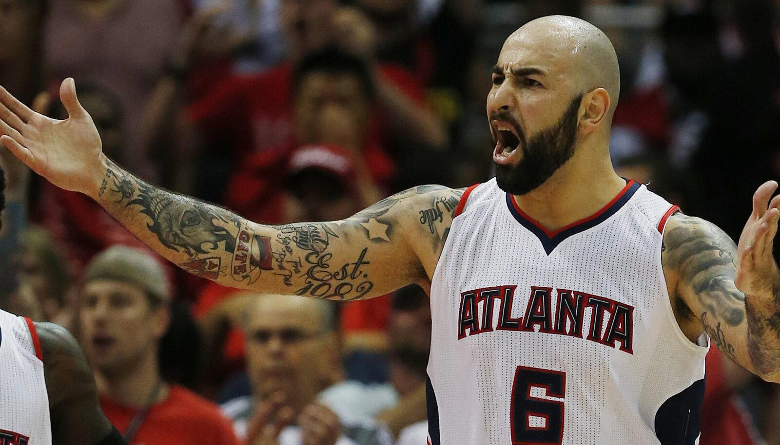 Pero Antic 2015. aastal Atlanta Hawksi särgis
