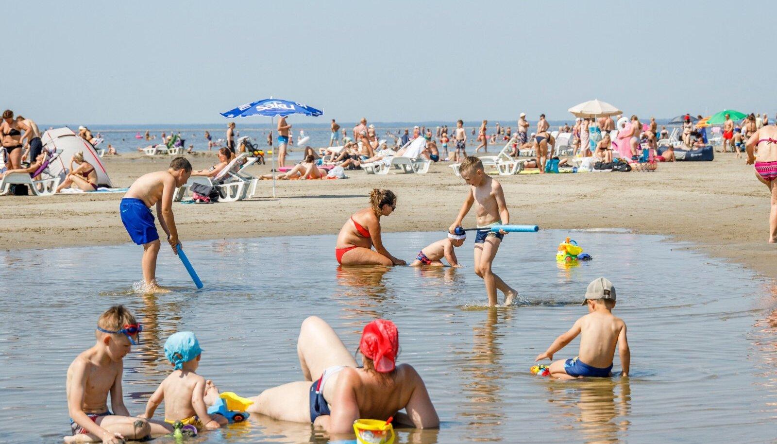 Pärnu rand möödunud suvel.
