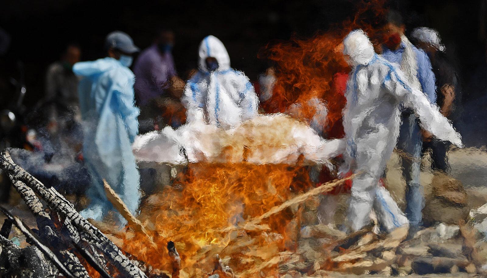 Covid-19 patsientide põletamine Delhis, 23. aprill
