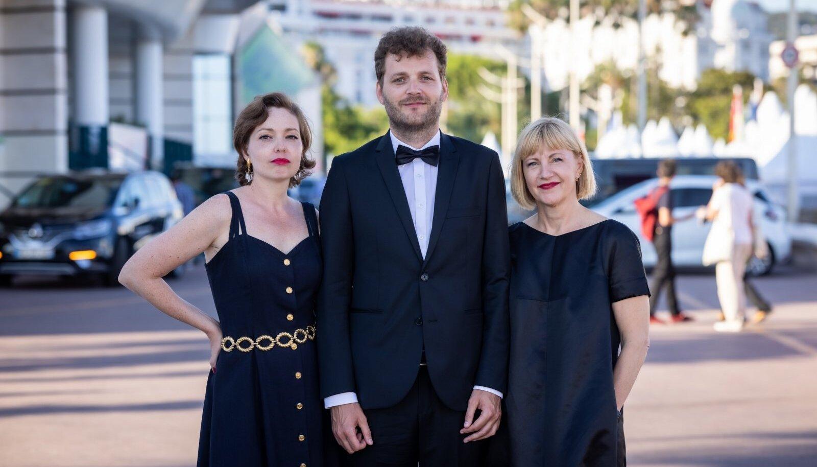 Vasakult paremale: Livia Ulman, Andris Feldmanis, Riina Sildos