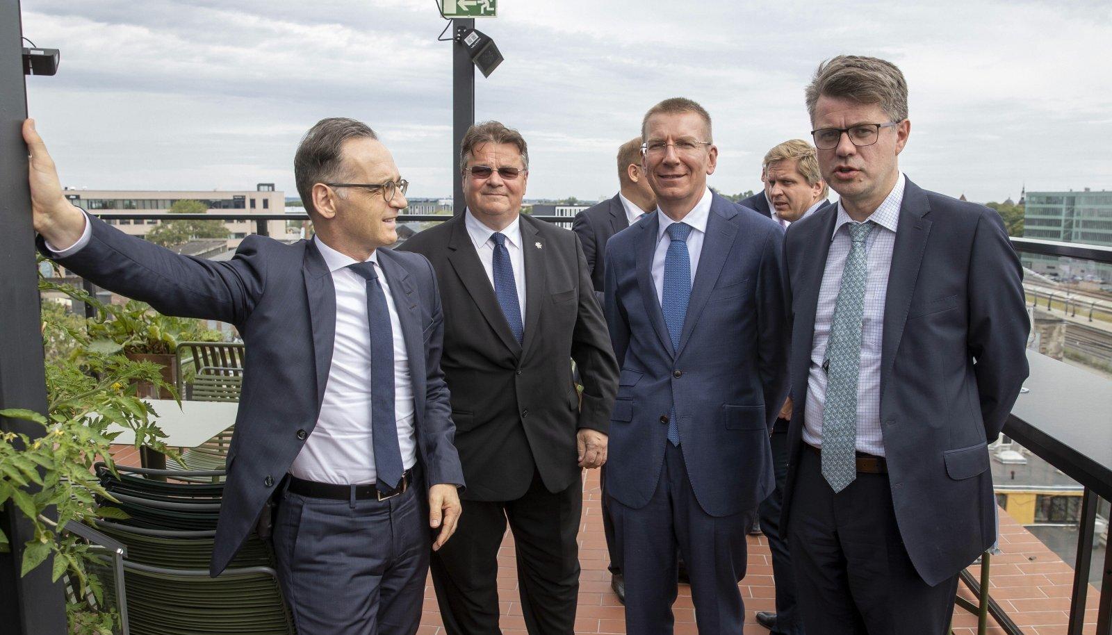 Heiko Maas, Linas Linkevičius, Edgars Rinkēvičs ja Urmas Reinsalu arutasid kohtumisel aktuaalseid välispoliitilisi küsimusi.