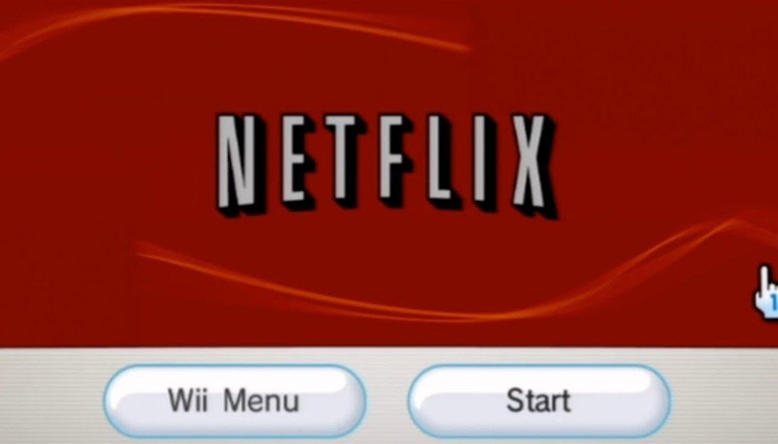 Netflixi äpp Nintendo konsooli Wii jaoks (ekraanitõmmis)