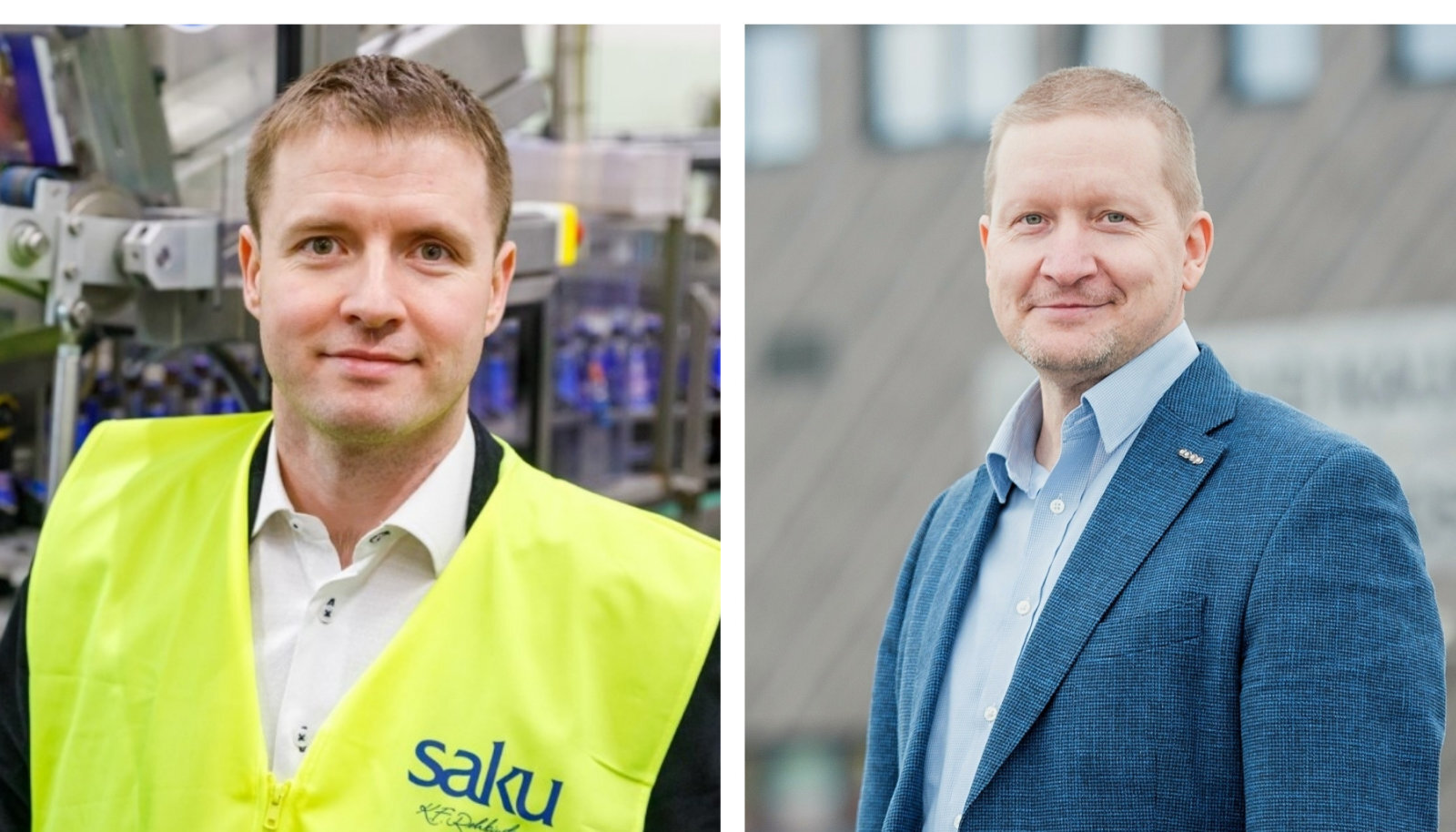 Joogitootja Saku Õlletehase juht Jaan Härms ja jaeketi Coop juht Alo Ivask.