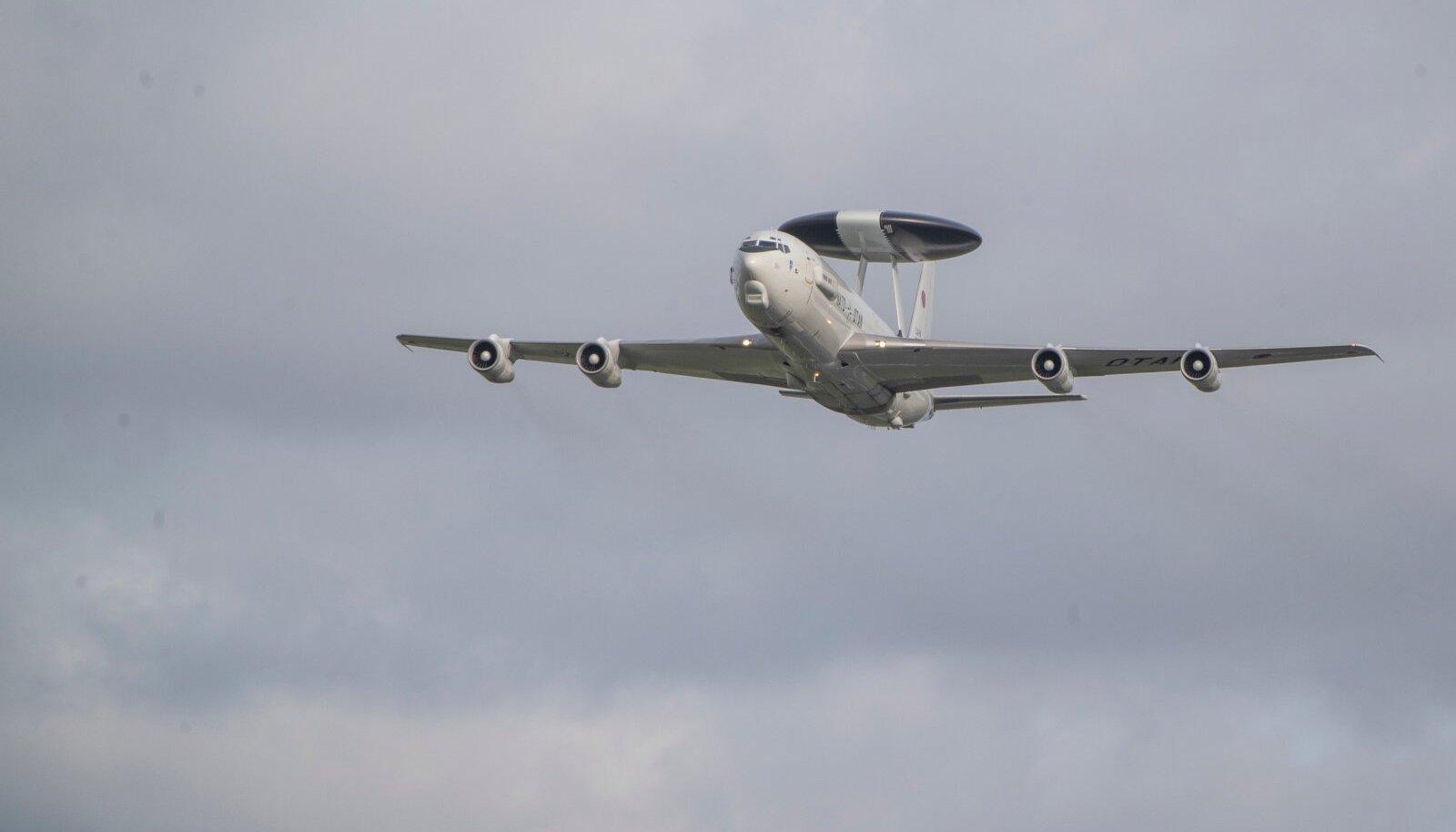 AWACS lennuk Tallinnale lähenemas 22.09.2020