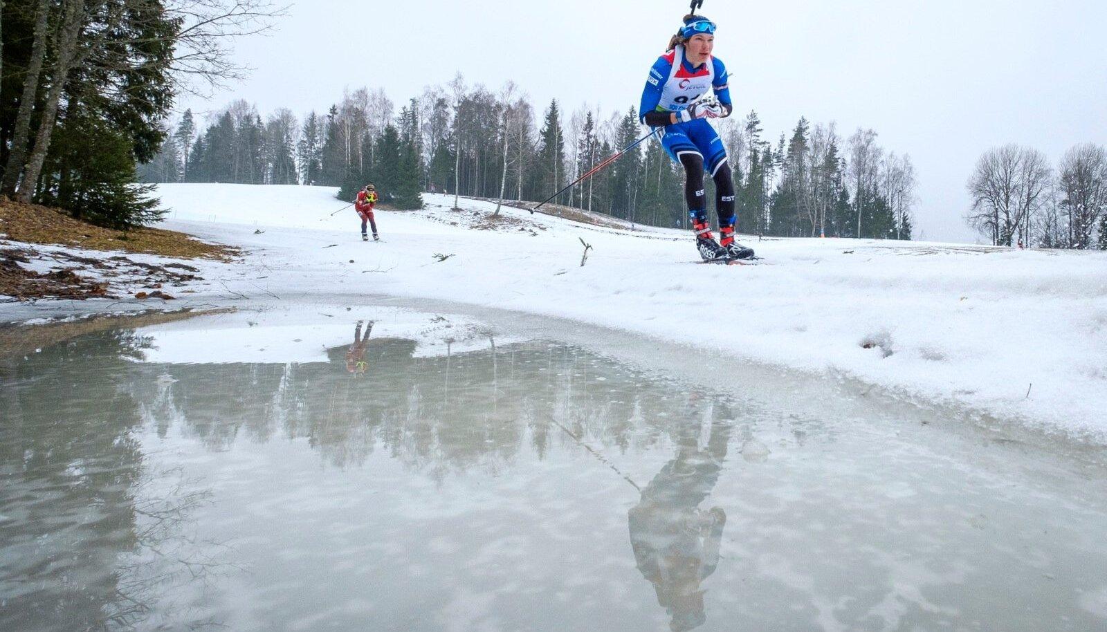 Laskesuusatajad Otepääl IBU Cupil.