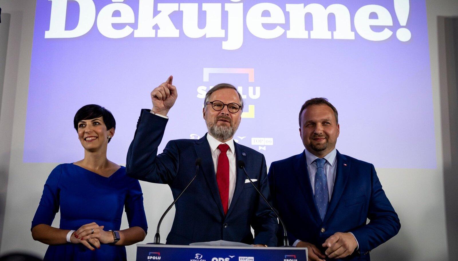 Valimised võitnud liit Üheskoos tänas tulemuste selgudes oma toetajaid.
