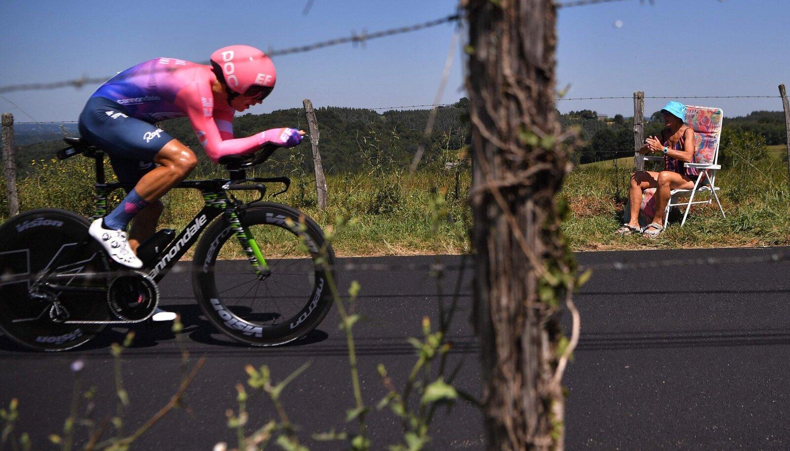 Tanel Kangert 2019. aasta Tour de France'i temposõidus.