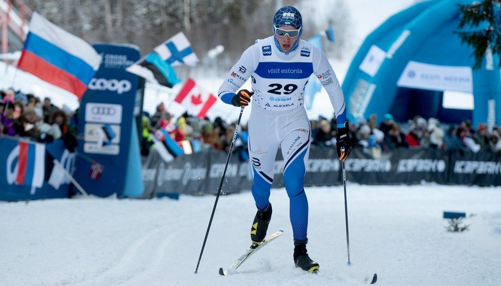 Karel Tammjärv Otepää MK-etapil.